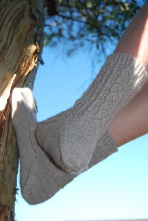 Micro Aran Socks