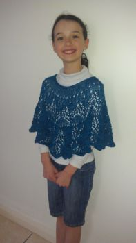 georgia in her knitted poncho!
